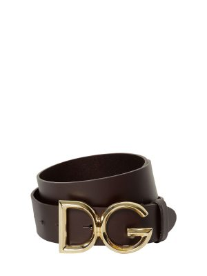 35mm Leather Belt W/ D & g Buckle