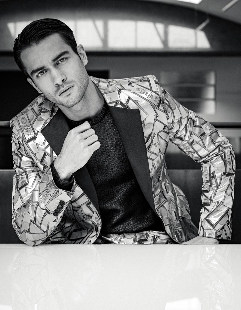 Aleksandar Suits Up for L'Officiel Germany