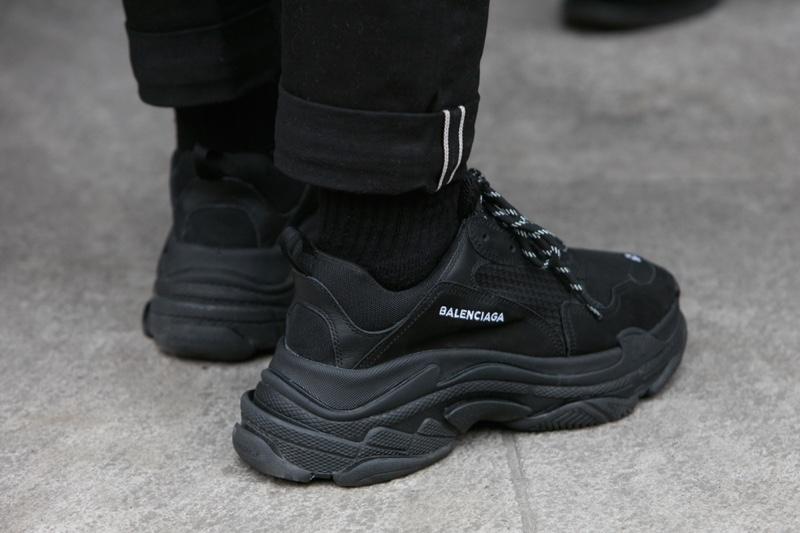 Balenciaga Sneakers Fashion Chunky Black