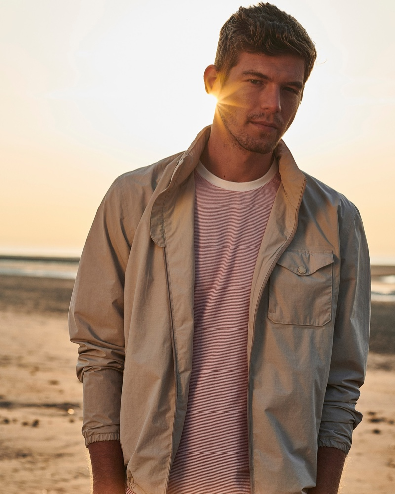 Barbour enlists Bertold Zahoran as the face of its new coastal collection.