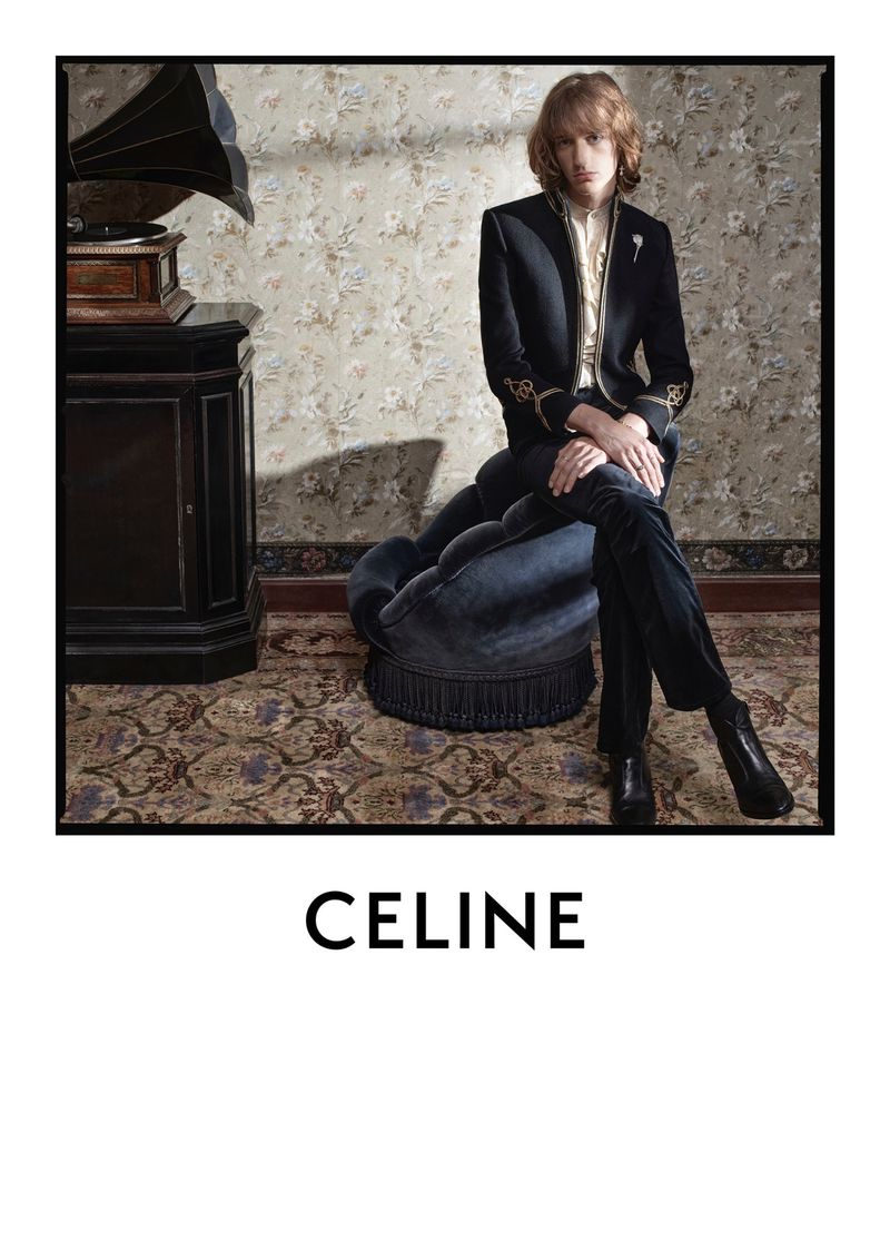 Dylan Delval fronts Celine's  fall-winter 2020 men's campaign.