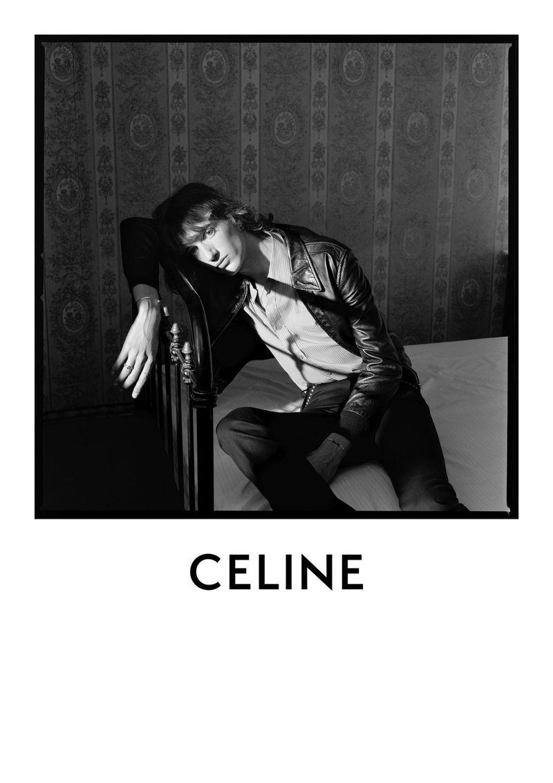 Hedi Slimane photographs Dylan Delval for Celine's  fall-winter 2020 men's campaign.