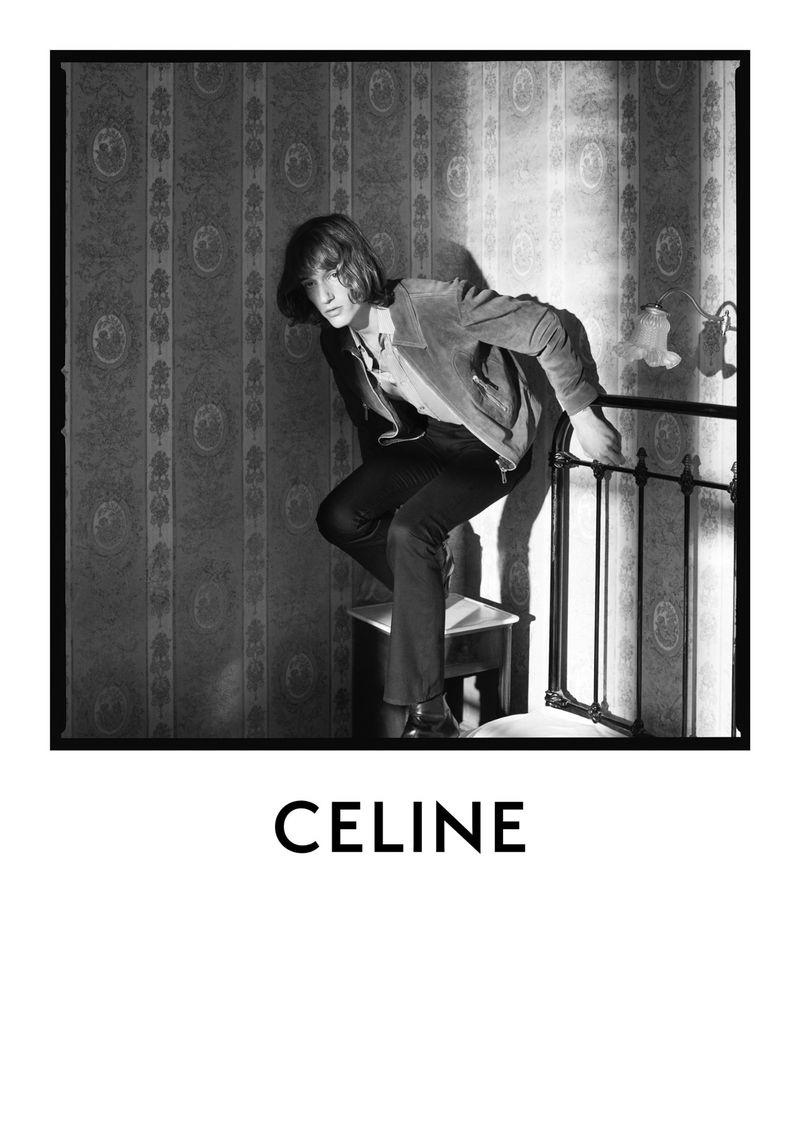 Model Dylan Delval appears in Celine's fall-winter 2020 men's campaign.