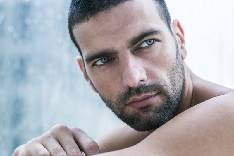 Closeup Man Beauty Skin Eyebrows