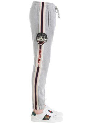 Cotton Jogging Pants W/ Side Bands
