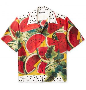 Dolce & Gabbana - Printed Silk-Twill Shirt - Men - Multi