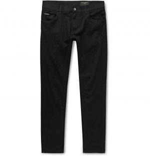 Dolce & Gabbana - Skinny-Fit Stretch-Denim Jeans - Men - Black
