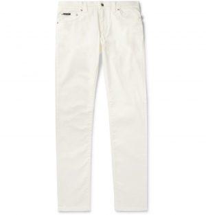 Dolce & Gabbana - Skinny-Fit Stretch-Denim Jeans - Men - White