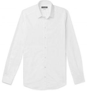 Dolce & Gabbana - Slim-Fit Logo-Jacquard Cotton-Poplin Shirt - Men - White