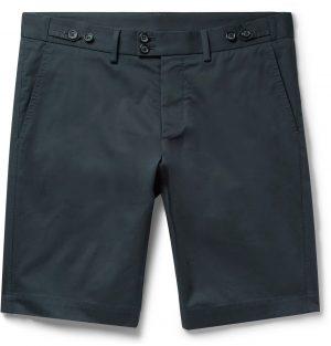 Dolce & Gabbana - Slim-Fit Stretch-Cotton Gabardine Shorts - Men - Blue