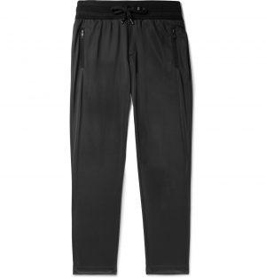 Dolce & Gabbana - Slim-Fit Tapered Logo-Appliquéd Satin-Jersey Track Pants - Men - Black