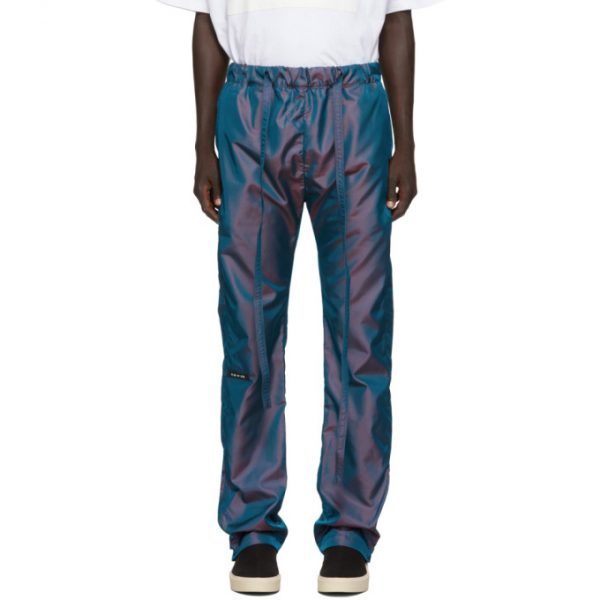 Fear of God Blue Iridescent Nylon Baggy Lounge Pants