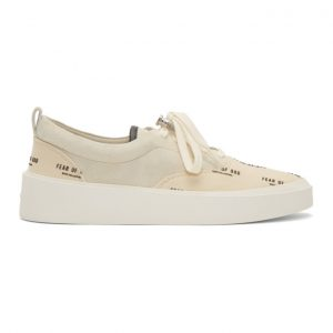 Fear of God Grey and Off-White 101 Print Lace-Up Sneakers