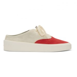 Fear of God Grey and Red 101 Backless Sneakers