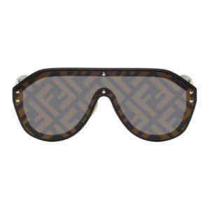 Fendi Black Forever Fendi Shield Sunglasses