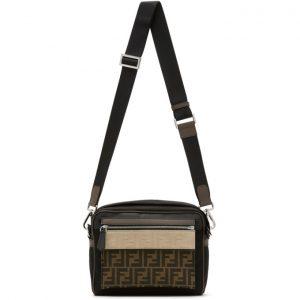 Fendi Black Medium Forever Fendi East/West Messenger Bag