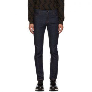 Fendi Blue Forever Fendi Skinny Fit Jeans
