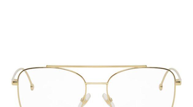 Fendi Gold Aviator Glasses