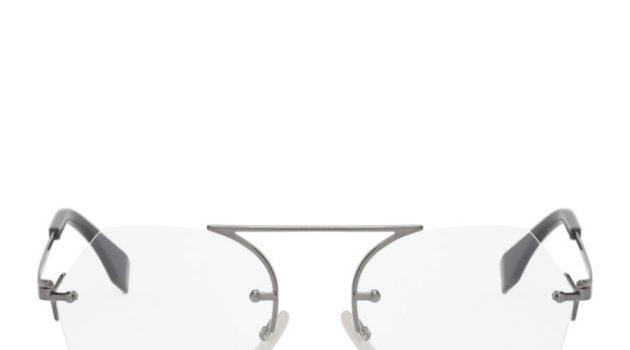 Fendi Gunmetal Aviator Glasses