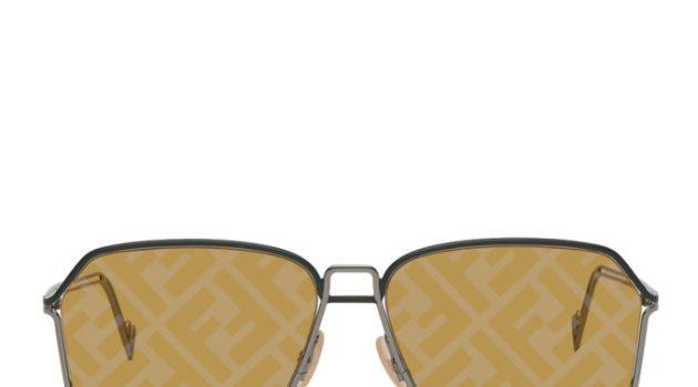Fendi Gunmetal Forever Fendi Logo Lens Sunglasses