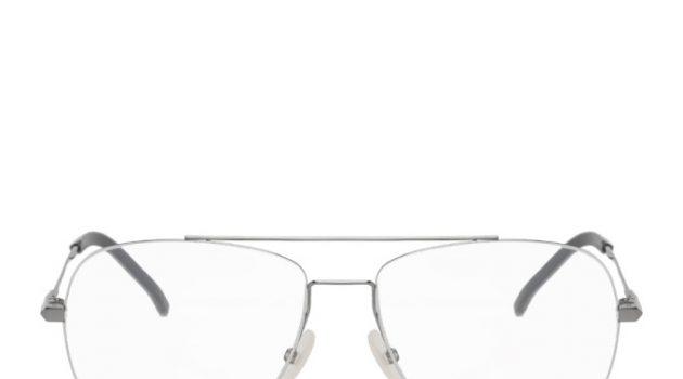Fendi Gunmetal and Silver Aviator Glasses