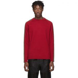 Fendi Red Forever Fendi Side Stripe Sweater