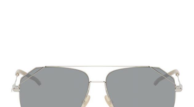 Fendi Silver Aviator Sunglasses