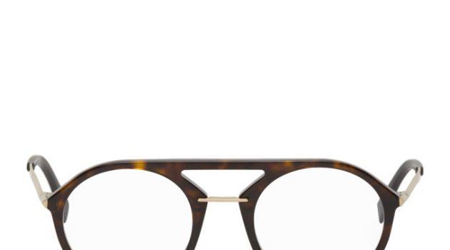 Fendi Tortoiseshell Round Aviator Glasses