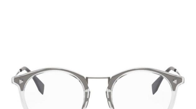 Fendi Transparent Round Glasses
