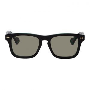 Gucci Black and Green GG0735S Sunglasses