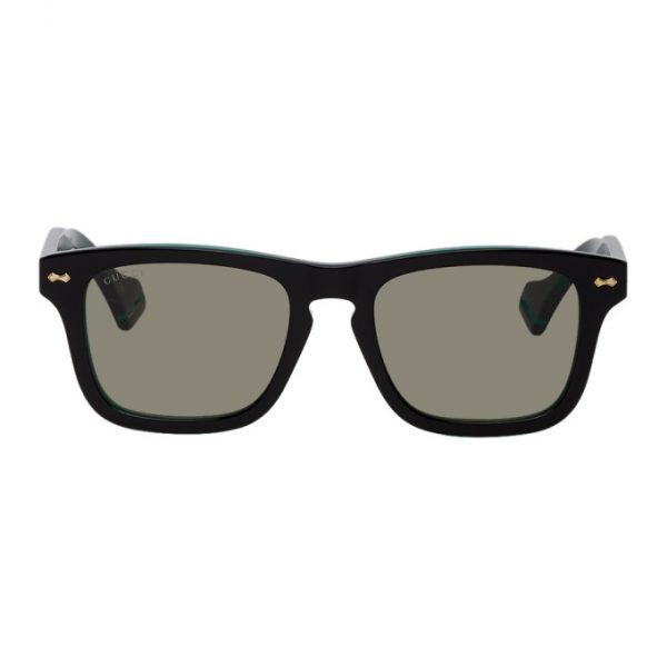 Gucci Black and Green GG0735S Sunglasses