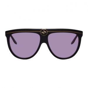 Gucci Black and Purple GG0732S Sunglasses