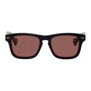 Gucci Black and Red GG0735S Sunglasses