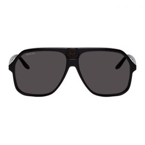 Gucci Black and Tortoiseshell GG0734S Sunglasses
