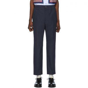 Gucci Blue Lightweight Poplin Trousers
