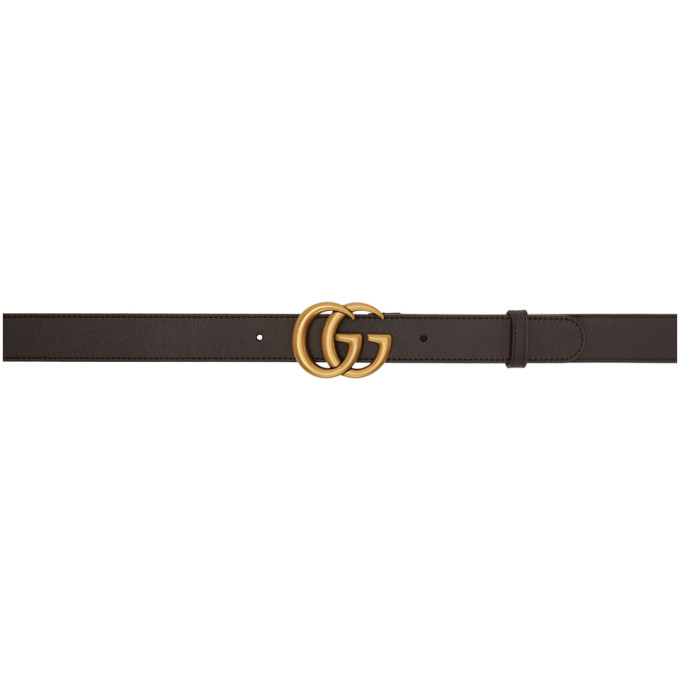 Gucci Brown Leather Double G Belt