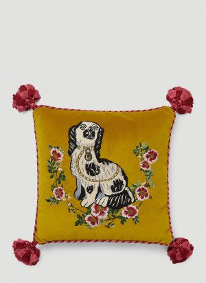Gucci Dog Cushion in Yellow size One Size