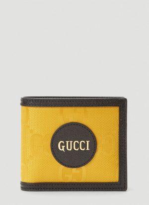 Gucci Eco-Nylon Bi-Fold Wallet in Yellow size One Size