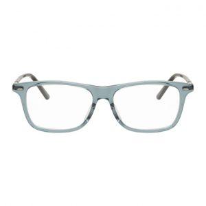 Gucci Grey Transparent Square Glasses