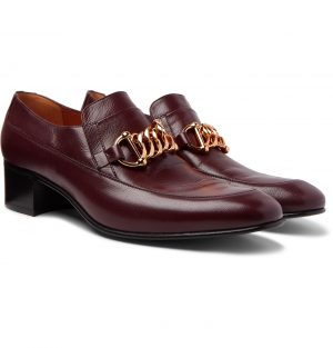 Gucci - Horsebit Leather Loafers - Men - Burgundy