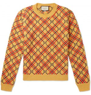 Gucci - Logo-Embroidered Wool Sweater - Men - Yellow