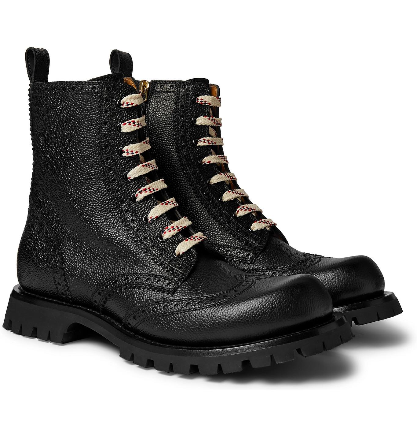 New Arley Pebble-Grain Leather Brogue