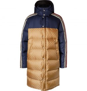Gucci - Oversized Quilted Logo-Jacquard Shell Hooded Down Jacket - Men - Yellow