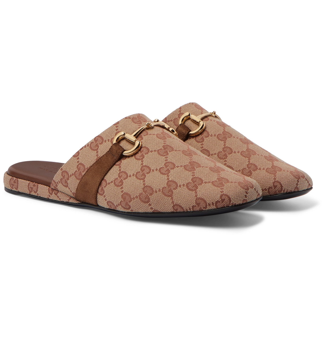 gucci canvas slippers