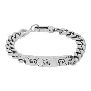 Gucci Silver Gucci Ghost Chain Bracelet