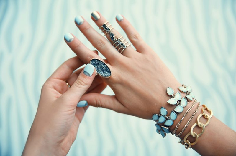 Handcrafted Jewelry on Womans Hand