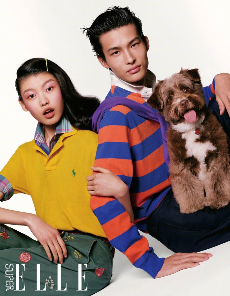 Huang Rocks Preppy Fashions for Elle China