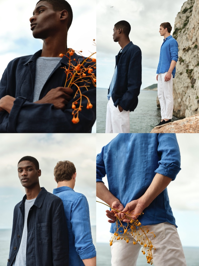 High Summer: Rachide & Julian Don New Massimo Dutti Menswear