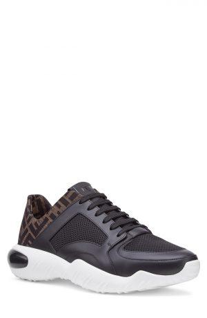 Men's Fendi Ff Mid Top Sneaker, Size 11.5US - Black