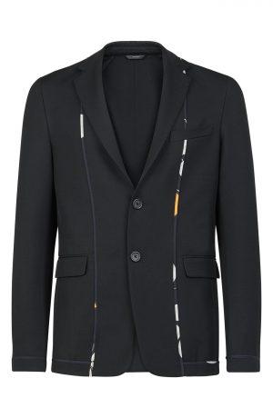 Men's Fendi Kaleidoscope Slim Fit Deconstructed Sport Coat, Size 50 EU - Black